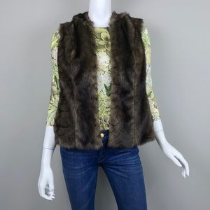 {Peter Nygard} Faux Mink Fur Hooded Vest, $129